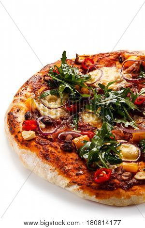 Pizza with ruccola