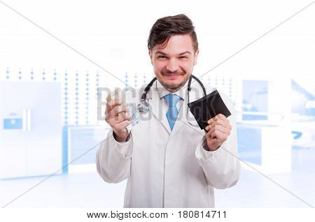 Male Cardiologist Enjoying His Succes