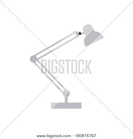 Lamp vector concept. Table lamp in modern flat style. Office technique on background. Desk lamp  icon isolated vector illustration. Modern lamp for web design on printed materials.