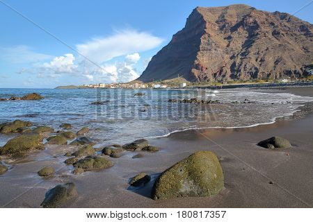 VALLE GRAN REY, LA GOMERA, SPAIN: La Playa beach in La Puntilla