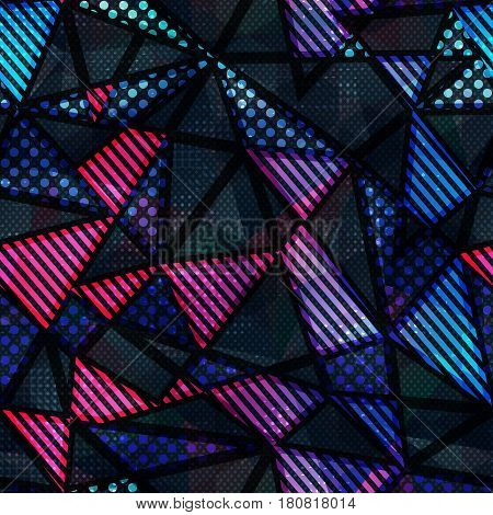 Spectrum color triangle seamless pattern (vector eps 10)