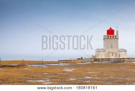Icelandic Lighthouse Dyrholaey, Vik Cape