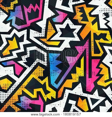 Graffiti seamless pattern with grunge effect (vector eps 10)