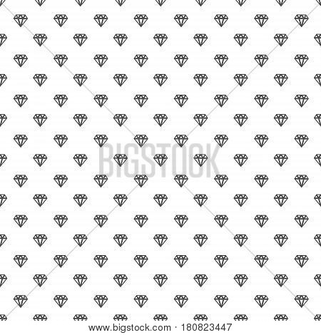Black funky diamond contour on white vector seamless print. Speckled simple graphic backdrop.Stylish fashion geometric pattern.