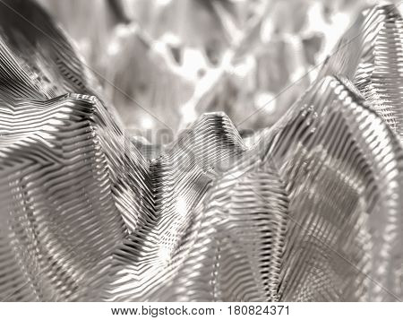 Abstract si-fi technology steel background. 3d illustration