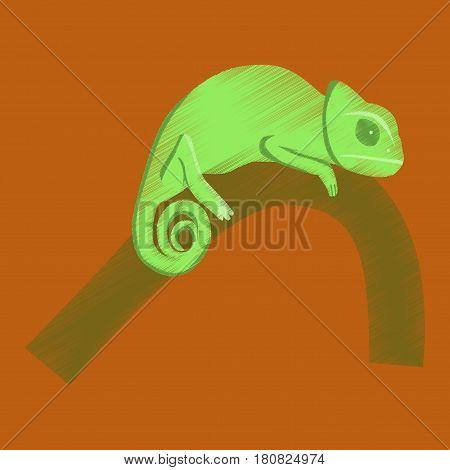 flat shading style icon chameleon reptile animal