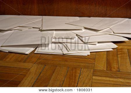 Envelopes On The Floor