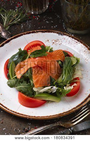 Salmon Salad With Avocado.