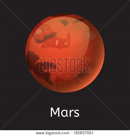 High quality space planet galaxy astronomy mars universe science globe cosmos orbit star vector illustration. Astrology planetary world exploration journey scientific surface.