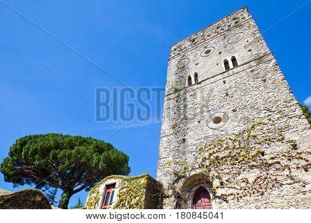 Italy Amalfitana Coast Ravello the Villa Rufolo Torre Maggiore