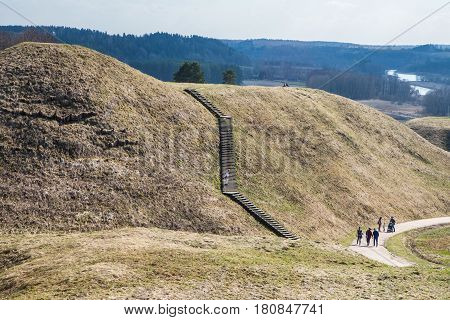 Mound Hills In Lithuanian Historic Capital Kernave