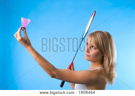 The Girl Plays Badminton