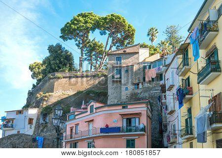 Sorrento Italy - November 15 2015: The fisherman village of Marina Grande