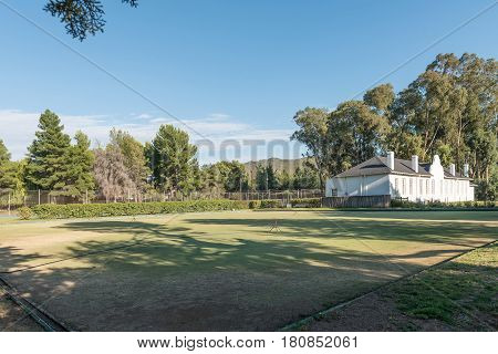 NIEU BETHESDA SOUTH AFRICA - MARCH 22 2017: The tennis and bowling club in Nieu-Bethesda an historic village in the Eastern Cape Province