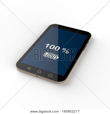 charging phone, 3d render
