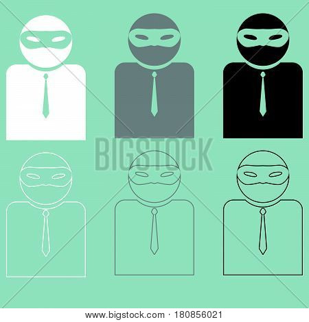 Man Or Person In Incognito Or Privat Mask.