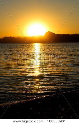 Sunset, Evening, Landscape, Dusk, Landscape, Crimea, the black sea, the sea