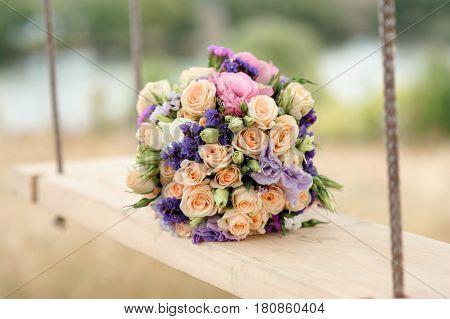 Stylish wedding bouquet. The Stylish Wedding bouquet with fresh flowers