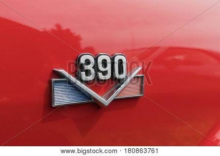 390 Emblem On Display