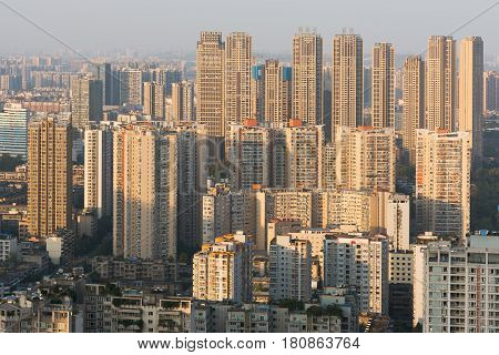 Chengdu Residential District Aerial View