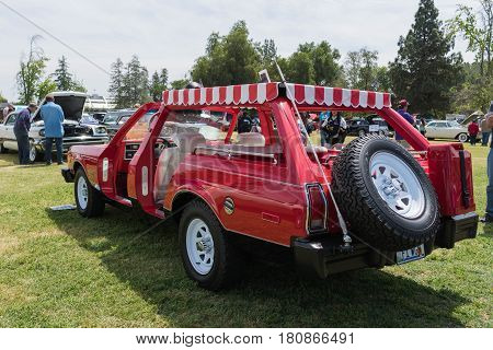 Customized Plymouth Volare Wagon On Display