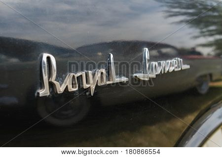Dodge Royal Lancer Emblem On Display