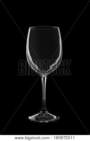 Silhouette Of Empty Glass For Red Or White Wine