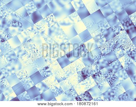 Abstract futuristic geometric image. Horizontal blue geometric background.