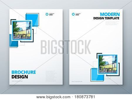 Brochure template layout design. Corporate business annual report, catalog, magazine or flyer mockup.