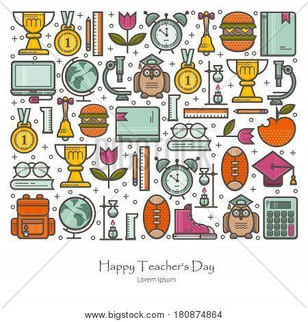 Illustration Happy Teacher s Day. Education concept