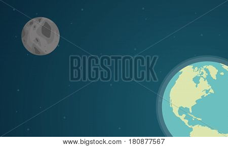 Collection stock of world on space design vector illustration
