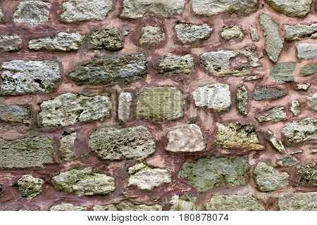 Historical building stone wall, rock , cement