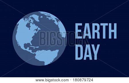Earth Day vector flat style collection stock