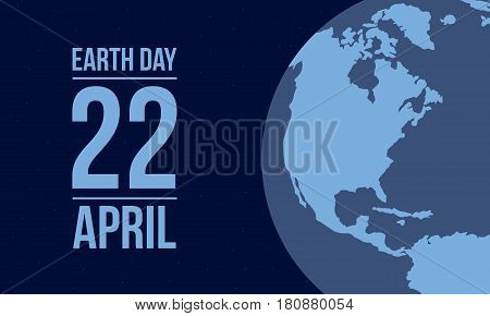 Collection stock of Earth Day style vector illustration