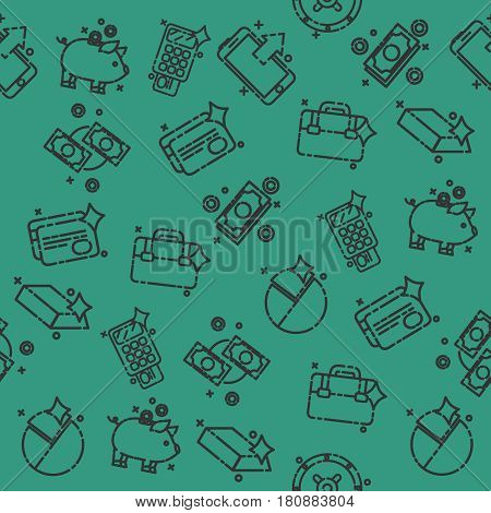 Bank and finance icons pattern for website and mobile site and apps. Vector illustration, EPS 10