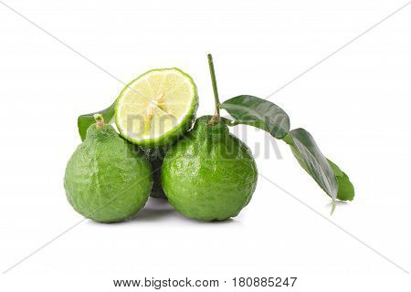 Bergamot fruit Bergamot isolated on white background.