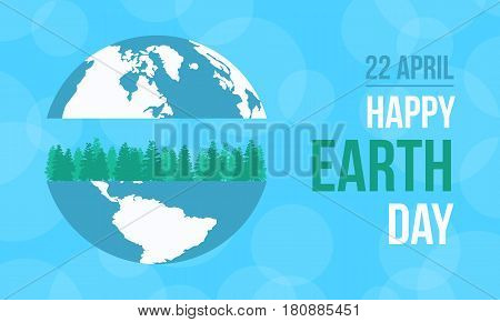 Collection stock of happy earth day vector illustration