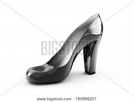 women stiletto heel shoe isolated on white background 3d render