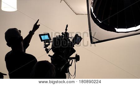 Behind The Scene Of Tv Movie Video Film Shooting.