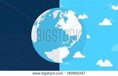 Vector flat earth day style collection stock