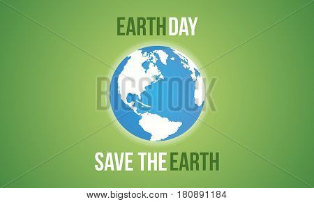 Save the earth vector flat collection stock