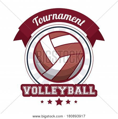 volleyball sport tournament stamp vector illustration eps 10