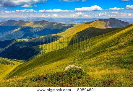 Stone On The Edge Of Mountain Cliff