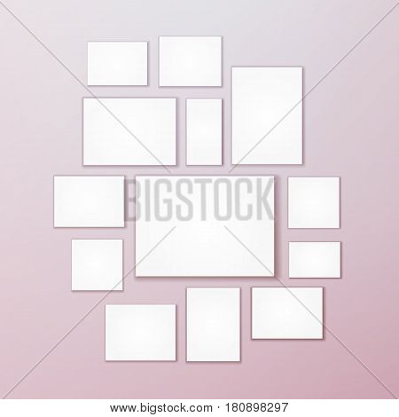 Blank white 3d Paper Canvas Vector. Empty Paper Sheet Illustration