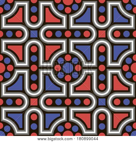 Vector seamless pattern. Repeating geometric pattern tile background