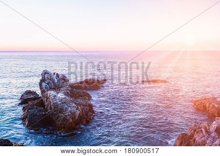 Evening View Of Pacific Ocean