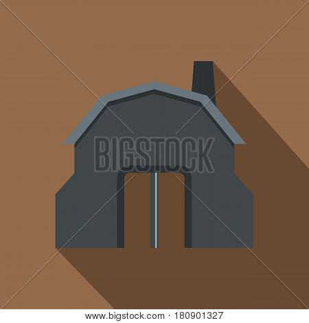 Blacksmith workshop building icon. Flat illustration of blacksmith workshop building vector icon for web