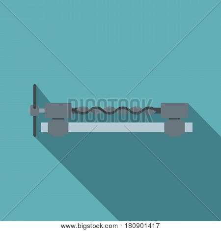 Blacksmiths clamp icon. Flat illustration of blacksmiths clamp vector icon for web