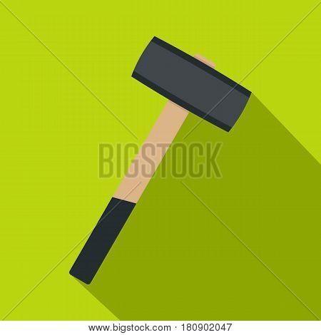 Sledgehammer icon. Flat illustration of sledgehammer vector icon for web