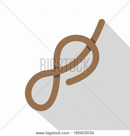 Ship rope con. Flat illustration of ship rope knot vector icon for web